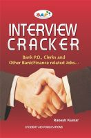 Interview Cracker: Bank P. O. Clerks and Other Bank/Finance Related Jobs (English) (Paperback): Book by Rakesh Kumar