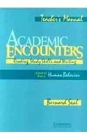Academic Encounters: Book by Bernard Seal