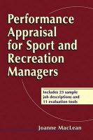 Performance Appraisal for Sport and Recreation Managers: Book by Joanne MacLean