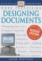 Essential Computers : Designing Document: Book by John Watson