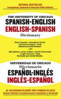 University Of Chicago Spanish-English Dictionary:Book by Author-David Pharies
