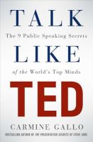 Talk Like TED: Book by Carmine Gallo