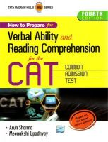 How To Prepare For Verbal Ability And Reading Comprehension For The CAT: Book by Arun Sharma