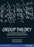 Group Theory : Covers the University of Delhi B.Sc. Mathematics (Hons) syllabi of Algebra II (Sem-3) and Algebra V (Sem-6) (English)