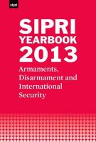 SIPRI Yearbook: Armaments, Disarmament and International Security: 2013: Book by Stockholm International Peace Research Institute