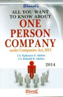 All you want to know about One Person Company under Companies Act 2013: Book by CA Rajkumar S.Adukia & CA Rishabh Adukia