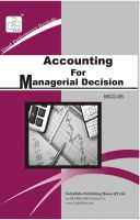 MCO5 Accounting For Managerial Decision (IGNOU Help book for MCO-5 in English Medium): Book by GPH Panel of Experts