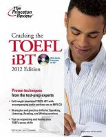 The Princeton Review: Cracking the TOEFL iBT: Book by Douglas Pierce , Sean Kinsell