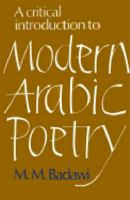 A Critical Introduction to Modern Arabic Poetry: Book by M.M. Badawi