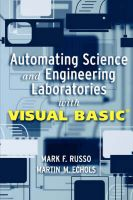 Automating Science and Engineering Laboratories with Visual Basic: Book by Mark F. Russo ,Martin M. Echols