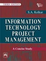 Information Technology Project Management: A Concise Study: Book by S.A. Kelkar