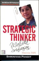 Strategic Thinker: Mallika Srinivasan:Book by Author-Shrinivas Pandit