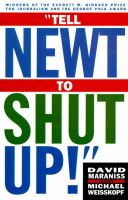 Tell Newt to Shut up: Book by David Maraniss