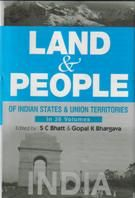 Land And People of Indian States & Union Territories (India), Vol-1st: Book by Ed. S. C.Bhatt & Gopal K Bhargava
