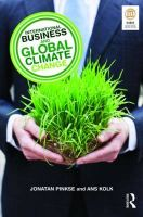 International Business and Global Climate Change: Book by Ans Kolk , Jonatan Pinkse