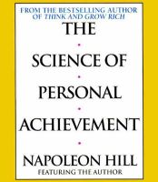 The Science of Personal Achievement: Follow in the Footsteps of the Giants of Success: Book by Napoleon Hill,Napoleon Hill