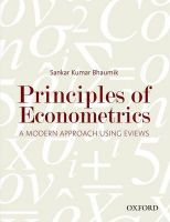 Principles of Econometrics: A Modern Approach Using EViews: Book by Sankar Kumar Bhaumik