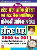 SBI and State Bank Associates Probationary Officer Exam Solved Papers 2000 to 2011  (640): Book by Kiran Prakashan