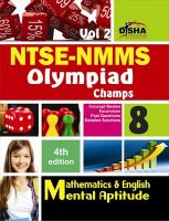 NTSE-NMMS/ OLYMPIADS Champs Class 8 Mathematics/ Mental Ability/ English Volume 2: Book by Disha Experts