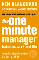 The One Minute Manager Balances Work and Life:Book by Author-Ken Blanchard,D.W. Edington,Marjorie Page Blanchard