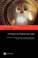 A Primer on Policies for Jobs: Book by Raj Nallari