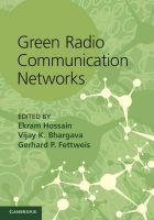 Green Radio Communication Networks: Book by Hossain Ekram, Bhargava, Vijay K., Fettweis, Gerhard P