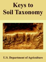 Keys to Soil Taxonomy: Book by U.S. Department of Agriculture