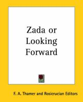 Zada or Looking Forward: Book by F. A. Thamer