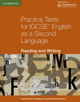 Practice Tests for IGCSE English as a Second Language: Reading and Writing Book 2: Bk. 2: Book by Marian Barry , Barbara Campbell , Sue Daish