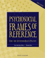 Psychosocial Frames of Reference: Core for Occupation-based Practice: Book by Mary Ann Giroux