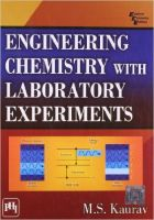 ENGINEERING CHEMISTRY WITH LABORATORY EXPERIMENTS: Book by Kaurav M. S.