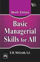 BASIC MANAGERIAL SKILLS FOR ALL: Book by McGRATH E.H. S.J.