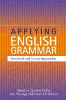 Applying English Grammar: Corpus and Functional Approaches: Book by Ann Hewings,Caroline Coffin,Kieran O'Halloran