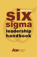 Rath and Strong's Six Sigma Leadership Handbook:Book by Author-Rath & Strong , Thomas Bertels