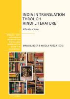 India in Translation Through Hindi Literature: a Plurality of Voices: Book by Maya Burger , Nicola Pozza