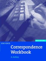 Oxford Handbook of Commercial Correspondence: Workbook: Book by A. Ashley