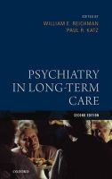 Psychiatric Care in the Nursing Home
