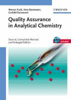 Quality Assurance in Analytical Chemistry: Applications in Environmental, Food and Materials Analysis, Biotechnology and Medical Engineering:Book by Author-Werner Funk , Vera Dammann
