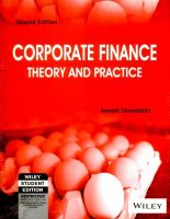 CORPORATE FINANCE THEORY AND PRACTICE, 2ND ED: Book by ASWATH DAMODARAN