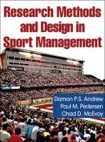 Research Methods and Design in Sport Management: Book by Damon P. S. Andrew