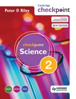 Cambridge Checkpoint Science: Bk. 2: Student's Book:Book by Author-Peter Riley