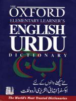 The Oxford Elementary Learner's English-Urdu Dictionary: Book by Salim Rahman , Salim Rahman , Sara Naqvi
