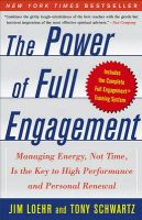 Power Of Full Engagement: Book by Jim Loehr