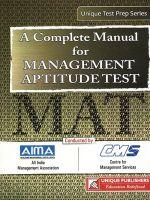 28.01-MAT-Management Aptitude Test Complete Guide: Book by J.K. Chopra