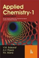 Applied Chemistry: v. 1:Book by Author-V.M. Balsaraf,A.V. Pawar,P.A. Mane