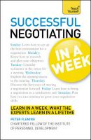 Teach Yourself Successful Negotiating in a Week:Book by Author-Peter Fleming