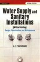 Water Supply and Sanitary Installations: Book by A.C. Panchdhari
