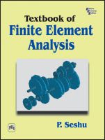 TEXTBOOK OF FINITE ELEMENT ANALYSIS: Book by SESHU P.