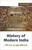 History of Modern India - 1707 A.D. to 2000 A.D.:Book by Author-R. S. Chaurasia