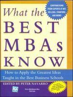 What The Best MBA's Know: Book by Peter Navarro